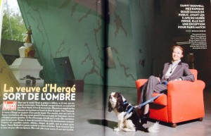 """La veuve d'Hergé sort de l'ombre"" - Paris Match 8-14/05/2014"