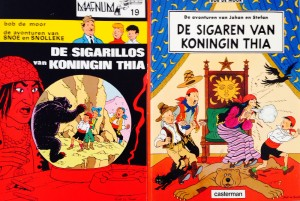 On the right the Casterman version from 1989, on the left the Magnum series version from 1979.