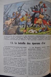 "Page 28 of ""Histoire de mon pays: histoire de Belgique"", signed by Bob De Moor"