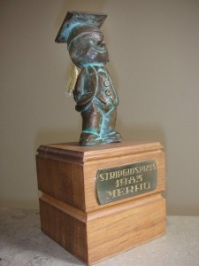 The 'Bronzen Adhemar' as won by Merho in 1983.