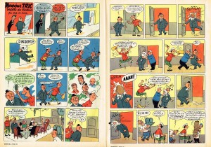 The original version as published in the Tintin weekly issue 36 of 1957.