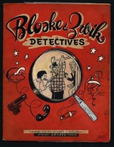 """Front cover 1949 album """"Bloske en Zwik, detectives"""""""