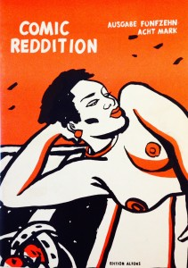 Cover of issue 15 of the German comic info magazine Comic Reddition released in November 1989