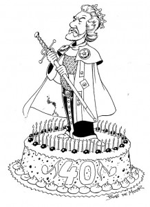 Drawing made for Chris De Moor's 40th birthday.