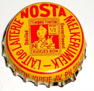 These were the later used capsules by Nosta with the Tintin Stamp.