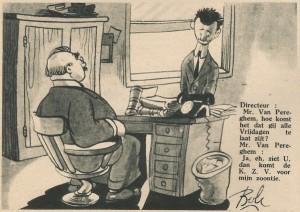 Cartoon by Bob De Moor published in the Zondagsvriend of 18 July 1946