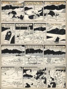 "A restored page from ""De gele spion"""