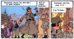 Lieutenant Grimca gives orders to Adolf Hitler
