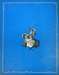 "The back of the 1952 edition of Bob De Moor's ""De Leeuw van Vlaanderen""."