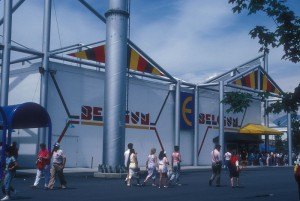 The Belgian pavilion at the Vancouver Expo1986. Source: Wikipedia.