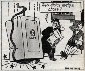 A detail of Bouboule & Noiraud as published in the Journal Tintin in a more Hergé like style.