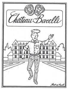 A wine vignette drawn in 1986.