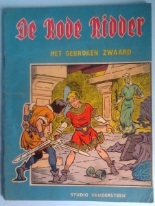 "The cover of the first De Rode Ridder album, ""Het gebroken Zwaard""."