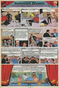 "The final page of the 1976 version of ""L'énigmatique Monsieur Barelli"" as released in the Collection Vedette."