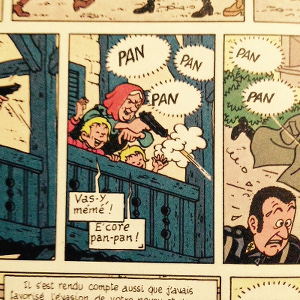The corrected text balloons in the Rombaldi version of 1983.