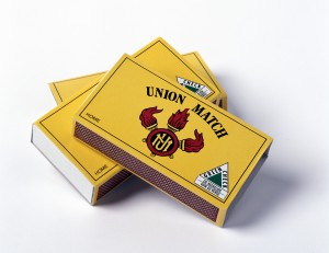 The well-known Union Match brand of matchboxes.