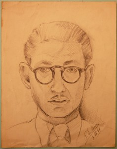 Bob De Moor's self-portrait as made on November 7, 1941.
