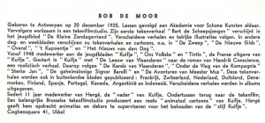The Bob De Moor bio as published in the booklet.