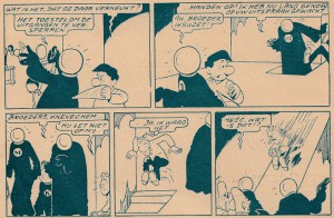 "The first 2 strips from page 16 of the album ""Bloske & Zwik, Detectives""."