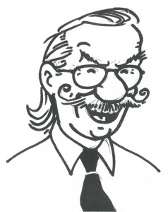A self portrait of Bob De Moor, probably made in 1986.