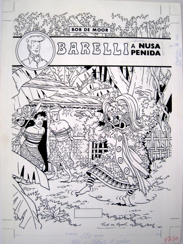 A test artwork version for the 80s version of 'Barelli à Nusa-Penida (Volume 1)'