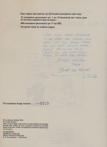 Signed by Bob De Moor for his daughter Annemie De Moor - Archives Family De Moor