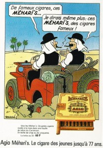 The Méhari tobacco campaign - Copyright © Hergé / Moulinsart