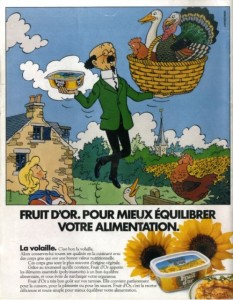 There is a housewife in this version - Copyright © Hergé / Moulinsart
