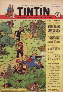 The cover for Tintin, issue 43, 1950.