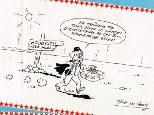 Monsieur Tric in the desert...