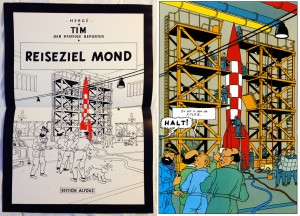Poster from Comic Reddition 15 and the original - Copyright © Hergé / Moulinsart