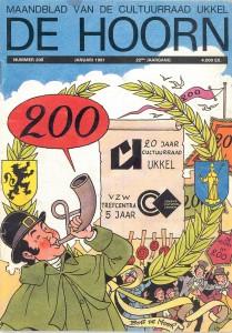 The january 1991 cover of 'De Hoorn' by Bob De Moor