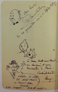 The drawings as made at the Ritz Hotel in Paris on December 15th 1958.