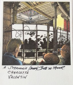 The drawing made by Bob De Moor for the Belgian Comic Strip Center