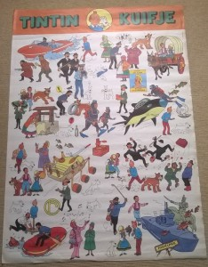 """The """"Tintin and the Lake of Sharks"""" poster as published by Belvision in 1973."""