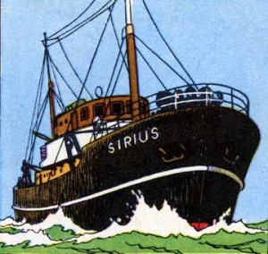 The Sirius - Copyright © Hergé / Moulinsart