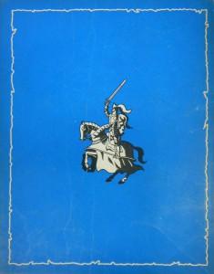 """The back of the 1952 edition of Bob De Moor's """"De Leeuw van Vlaanderen""""."""