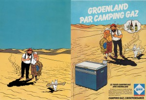 Left the original drawing, right the 1979 version - Copyright © Hergé / Moulinsart