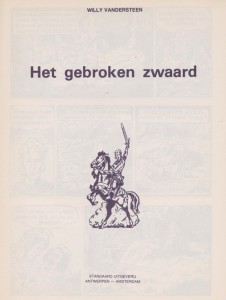 The logo on the title page of the first De Rode Ridder album.