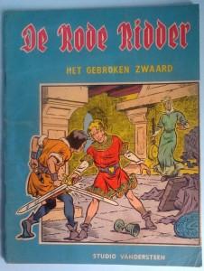"""The cover of the first De Rode Ridder album, """"Het gebroken Zwaard""""."""