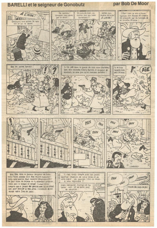 """Page 26 of """"Le Seigneur de Gonobutz"""" as published in Le Soir in 1976."""