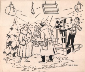 Christmas/New Year's cartoon which Bob De Moor made for Publiart on December 28th 1953.