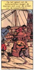 "The capstan in its final version of page 4 of the Cori album ""L'invincible Armada 2 - Le Dragon des Mers"""