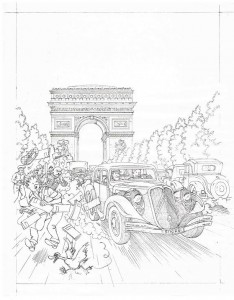 The drawing as pencilled by Geert De Sutter