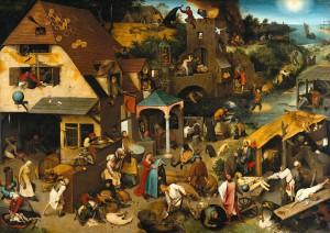 Pieter Bruegel the Elder's 'De Vlaamse Spreekwoorden' from 1559.