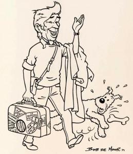 The 1971 drawing by Bob De Moor.