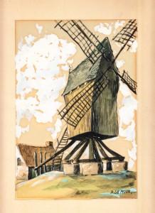 The wooden windmill by Bob De Moor