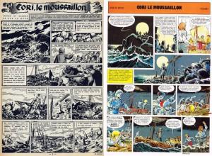 Bob De Moor's version on the left, Michel Pierret's version on the right.