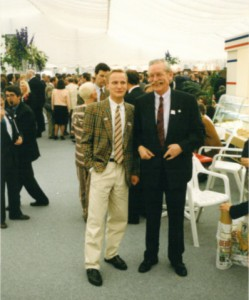Johannes Stawowy and Bob De Moor in Welckenraedt in 1991.