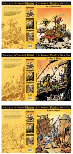 The 3 covers + artwork for the back of each book.